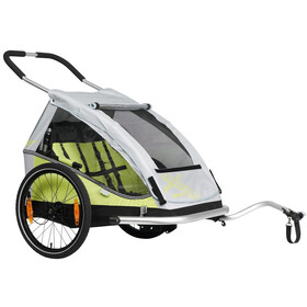 "XLC Duo8teen BS-C07 Remorque enfant 20"", lime/silver"
